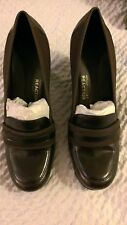 NEW Womens Kenneth Cole Reaction Coffee Brown Bird Cede Leather Wedge Shoes 10M