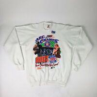 NWT VTG NFL Denver Broncos Super Bowl XXIV AFC Champs 1989 Crewneck Sweater Adul