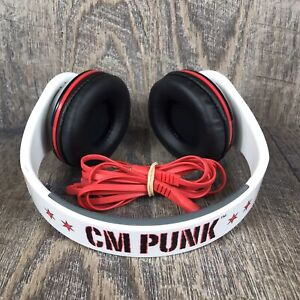WWE CM Punk Collapsible Fold N' Flip Multi-Device Headphones 2012 Rare Tested