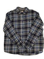 Woolrich Sz Xl Mens Long Sleeve Button Up Flannel Shirt Blue Plaid
