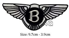 Bentley logo racing biker car embroidered iron on patch badge motor # M08