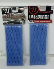 Lot of 2 Warrior Part A Hard Mesh Piece Blue Lacrosse Head String New