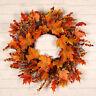 Türkranz Ahorn Blätter Herbst Beeren Kugeln Weihnachtsdeko Kranz Thanksgiving