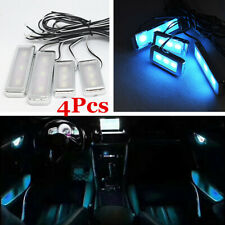 4X Car Interior Door Bowl LED Blue Cold Light Lamp Atmosphere Lamp Trim Decor