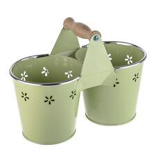 Daisy twin seau planteur pots de fleurs vert pâle