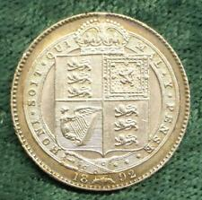 1892 Queen Victoria Great Britain ONE SHILLING silver coin LOOK