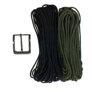 """Paracord Planet 550 Paracord Belt Kit - USA Made Paracord & Metal Buckle - 44"""""""