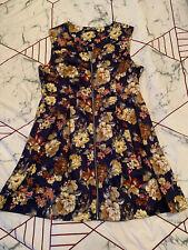 Portmans Zip Front Floral Dress Size 16 Brand New