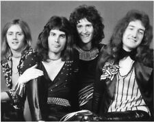Queen '75 Band 8x10 Photo Freddie Mercury Brian May Roger Taylor John Deacon