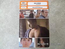CARTE FICHE CINEMA 2011 BULLHEAD Matthias Schoenaerts Jeroen Perceval
