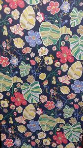 Gwyneth Hunter Navy/Pink/Blue/Green Bold Flower/Leaf Wallpaper
