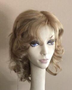 NWT! JACQUELYN Wig HUMAN HAIR Blend SPIRIT 123 Blonde Mix Monofilament Top