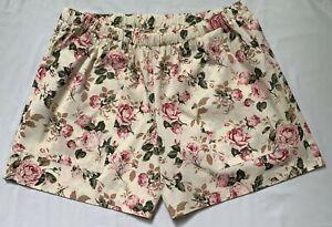 ladies cotton floral shorts sew-ezy australia