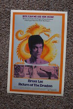 Return of the Dragon Lobby Card Movie Poster Bruce Lee