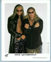 WWE EDGE AND CHRISTIAN P-560 OFFICIAL LICENSED ORIGINAL 8X10 PROMO PHOTO RARE