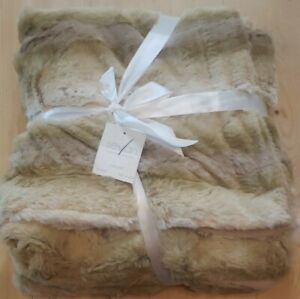 Sevan Collection Animal Pattern Natural Faux Fur Throw Blanket ~ Super Soft