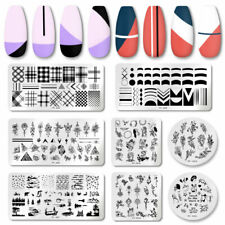 PICT YOU Nail Stamping Plates French Geomtery Flower Nail Art Stamp Templates