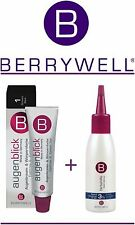BERRYWELL BLACK Professional Eyebrow & Eyelash Tint Dye 15ml+Oxidant Liquid 61ml