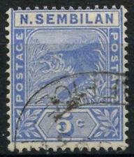 Malaya Negri Sembilan 1891-1894 SG#4, 5c Blue Used #A93261