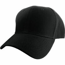 Plain Fitted Curved Visor Baseball Cap Solid Color Blank Color Caps Polo Hat JM