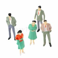 100x Painted Seated People Model Train Figures Assorted Pose Scenery Scale 1:200