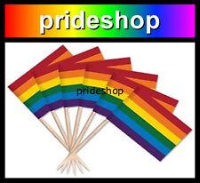 Rainbow Flag Toothpicks 100 Tooth Picks Lesbian Gay Pride #33