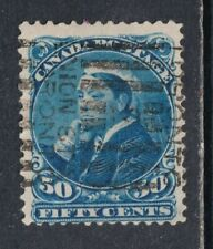 Canada SG 116 Scott 47 1893 Used 50¢ Blue Queen Victoria SCV $85