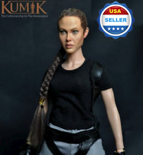 1/6 scale KUMIK 13-54 Angelina Jolie Lara Croft Female Head Sculpt for hot toys