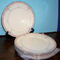"""6 LENOX EMILY DEBUT COLLECTION DINNER PLATES 10.75"""" NEVER USED FREE U S SHIPPING"""