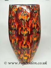 Anita Harris Studio  Large Triangular Vase  Flame