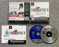 Final Fantasy 6 VI with FFX Demo CD PS1 PS2 PS3 PAL Black Label
