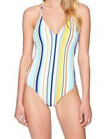 Nanette Lepore Womens Swimwear Blue XS Striped Amalfi Coast Swimsuit $164 512