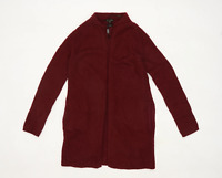 Massimo Dutti Womens Size XS Burgundy Cardigan (Regular)