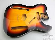 3 Tone Sunburst Finish Top Binding Semi Hollow Guitar Body for Thinline Tele