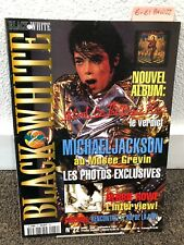 Michael Jackson Black & White magazine no 22 thriller fedora not signed smile