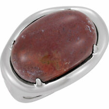 65% OFF RETAIL -- STULLER STERLING SILVER RED JASPER RING SIZE 7