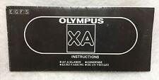 Oem Olympus Xa 35mm Film Camera Instruction Manual Guide Book in E F G & S