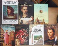 Italian Middle Ages & Renaissance History Borgia Dante Machiavelli 7 book lot
