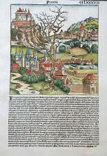 FRANKREICH FRANCIA FRÄNKISCHES REICH SCHEDEL WELTCHRONIK KOBERGER KOLORIERT 1493