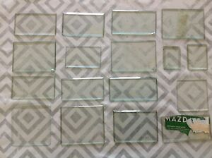 Bevelled Clock Glass Collection of Seconds Ex Clockmakers Spare Parts Nibbles