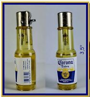 2 pc. CORONA EXTRA CERVEZA BEER BOTTLE LIGHTER FROM 1996 , NEW & FREE SHIPP