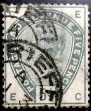GB - 1883-84 : Queen Victoria 5p green, Scott# 104