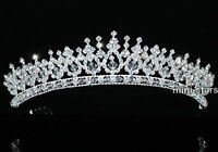 Bridal Wedding Prom Pageant Sparkling Tiara use Swarovski Crystal T1543
