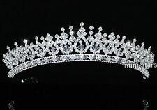 Bridal Wedding Prom Pageant Sparkling Tiara use Swarovski Crystal T1543
