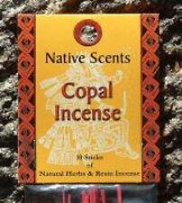 Copal Incense Sticks Native Scents Natural Fragrances 2 Packs = 20 Sticks