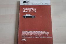 102104) Audi 80 / Fox Ersatzteilkatalog 09/1982