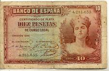 ESPAGNE SPAIN ESPANA 10 Pts 1935 état voir scan 635