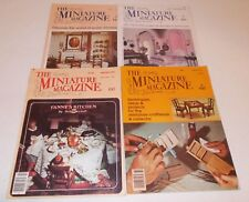 The Miniature Magazine lot 1978-1979 projects craftsman & collector dollhouse
