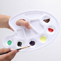 1 PCS Acrylic Mixing Paint Draw Nail Art Watercolor Plastic Palette Tray