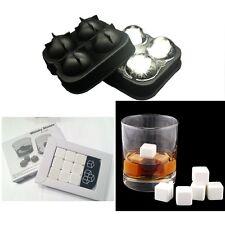 9 White Whiskey Whisky Scotch Soapstone Stone Ice Cubes Rocks 4 Ball Mold Maker